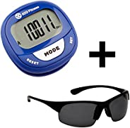 OZO Fitness SC2 Digital Pedometer   Best Pedometer for Walking   Accurately Track Steps and Miles, Calories Bu