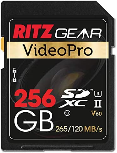 Extreme Performance Video Pro SD Card UHS-II 256GB SDXC Memory Card U3 V60 A1, (R 265mb/s 120mb/s Write)