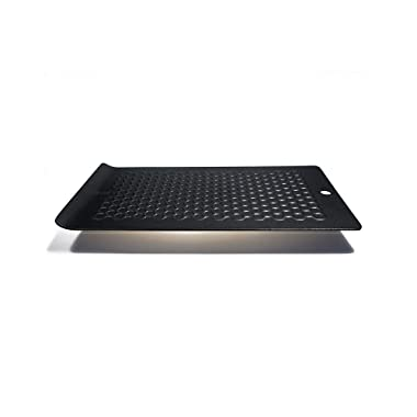 PDair Energy Source Defrosting Tray & Chill Platter, The Quickest and Safest Way to Thaw Frozen Food Without Electricity, Microwave, Hot Water or Other Tools - Luxury Design (Black)