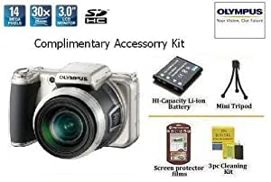 "Olympus SP-800UZ 14MP Digital Camera With ""Complimentary Olympus Accessory Kit"" Kit Includes Extended Life Spare Battery Pack + Mini Tripod + More"