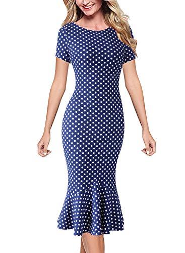 lace detail dress blue - 1