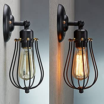 edison in from lighting sconces cage lamps deco home industrial bedroom fixture loft wall item sconce retro bulb vintage lights outdoor iron