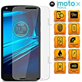 SmartLike Ultra clear, 9H hardness,2.5D Curved, shatterproof, Anti Finger Print, scratch free, bubble free, oil resistant, reduced fingerprint Tempered glass screen protector Tempered glass for Motorola Moto X Force Dual