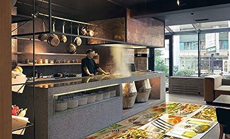 ruvitex 3d floor vinyl decor pvc flooring food store carpet restaurant sticker warehouse hallway tiles wall