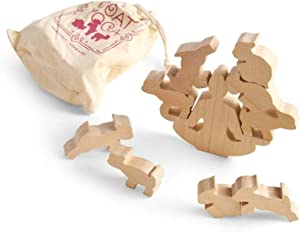 Fred & Friends Goat Yoga Wooden Stacking Game