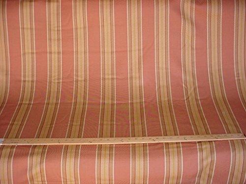 g Linen / Cotton Stripe Designer Upholstery Drapery Fabric - By the Yard (Linen Designer Upholstery Fabric)