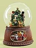 "MUSICAL 5.5"" NUTCRACKER CHRISTMAS GLITERDOME 100MM"