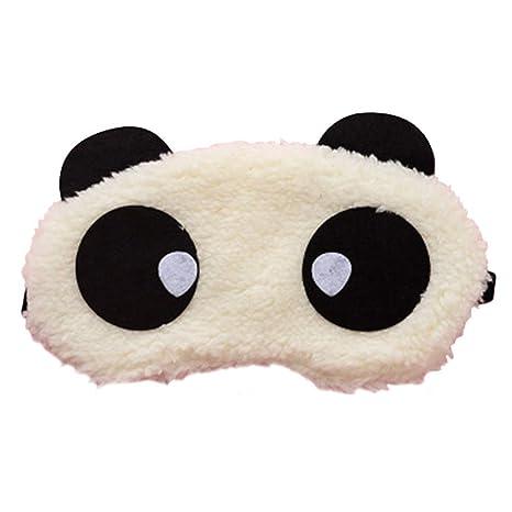 qinlee Panda venda para los ojos dormir ojo máscara de peluche Sombras Toalla Ojo Máscara Chica