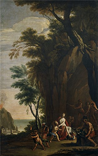 Perfect Effect Canvas ,the Imitations Art DecorativeCanvas Prints Of Oil Painting 'Palomino Y Velasco Acisclo Antonio Alegoria Del Fuego Ca. 1700 ', 8 X 13 Inch / 20 X 32 Cm Is Best For Kids Room Decor And Home Gallery Art And