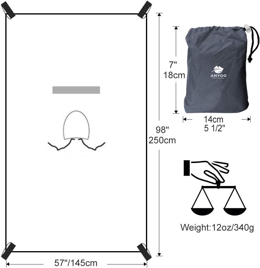 Anyoo Impermeabile Poncho Pioggia Riutilizzabile Multiuso Impermeabile Impermeabile con Cappuccio Packable Telo Riparo a Terra Foglio Ideale per Campeggio allaperto Pesca Pesca Sopravvivenza