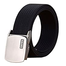 Fairwin Men's Nylon Tactical Web Belt - Military Style Casual Army Outdoors Belt