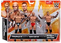2015 WWE Triple Threat Match Triple H Batista and Randy Orton