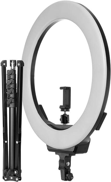 Fovitec - Kit de luz y Soporte de luz LED Bicolor Regulable de 19 Pulgadas