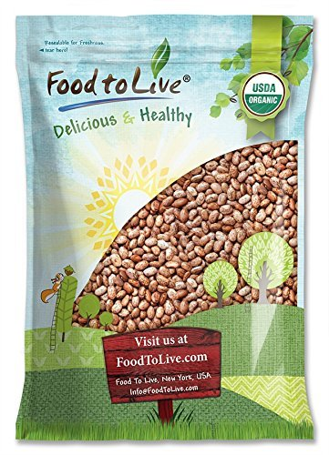 Food to Live Certified Organic Pinto Beans (Non-GMO, Kosher, Bulk) (15 Pounds)