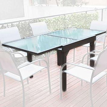 Ozalide Table de jardin honfleur 90/180 x 90cm: Amazon.fr ...
