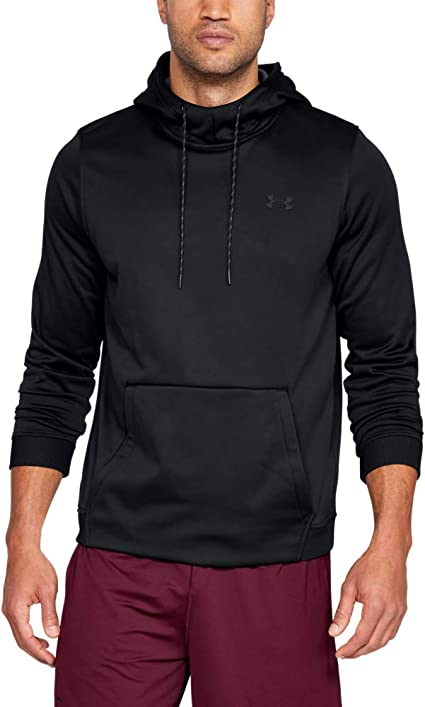 Under Armour Pull à capuche en polaire pour homme, Homme, Sweat shirt à capuche, Armour Fleece Pullover Hoodie, Black (001)Black, 5X Large