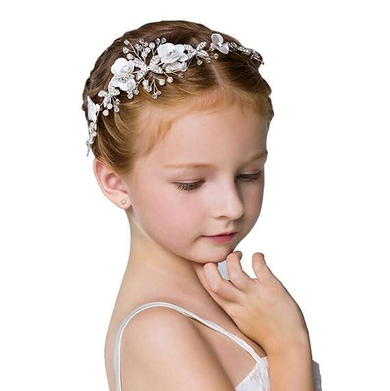 192b74a725fd5 Tokuonn 子供 髪飾り カチューシャ ヘアバンド 女の子 フラワーガールズ 花 ヘアアクセサリー 入学式 卒業
