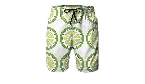Bing4Bing Lemon Summer Fast Dry Beach Mens Swim Trunks