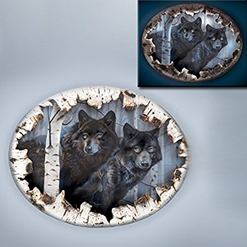 The Bradford Exchange Birch Bark Wolf Canvas Watchers In The Wild Wall Decor