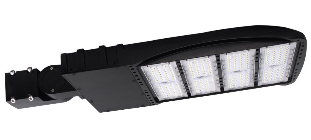 300 Watt NextGen LED Parking Lot Lights - 40,000 Lumen - Super Efficiency 130 Lumen to Watt - 5000K Bright White - Replaces 1000W Halide - LED Shoebox Lights - Slip Fit Mount - With photocell