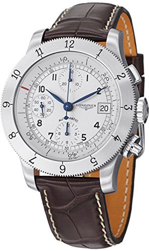 Longines Men's L27414732 Weems Analog Display Swiss Automatic Brown Watch (Watch Wrist Longines Band)