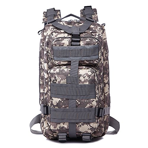 30L 1000D Nylon Waterproof Outdoor tactical backpack for Travling+Camping+Hiking (ACU)