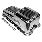 Assault Racing Products A8446 SBF Ford Polished Aluminum Oil Pan Retro Finned Front Sump - 260 289 302
