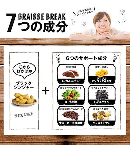 Japanese Popular Diet Supplement Graisse Break 30days(60tablets) by Graisse Break (Image #3)