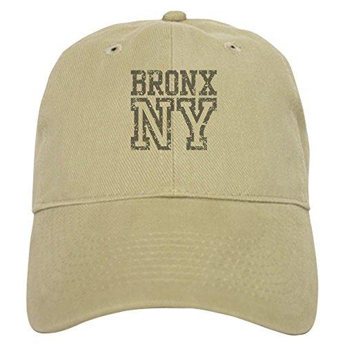 CafePress Bronx NY Cap Baseball Cap with Adjustable Closure, Unique Printed Baseball Hat Khaki