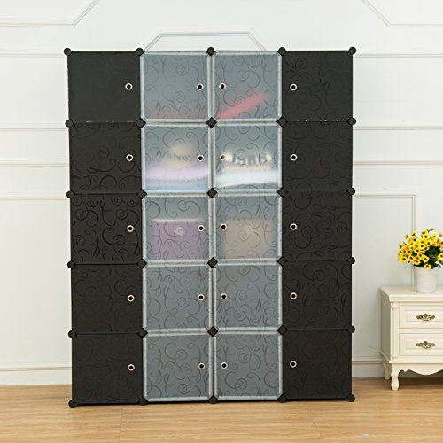 Unicoo Multi Use Diy Plastic 20 Cube Organizer Bookcase