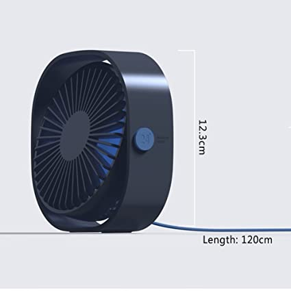 Topmate USB Mini Fan 3 Wind Speed Control 360 ° Angle Adjustable Portable  Mini Fan Energy Saving for Office Outdoor Travel