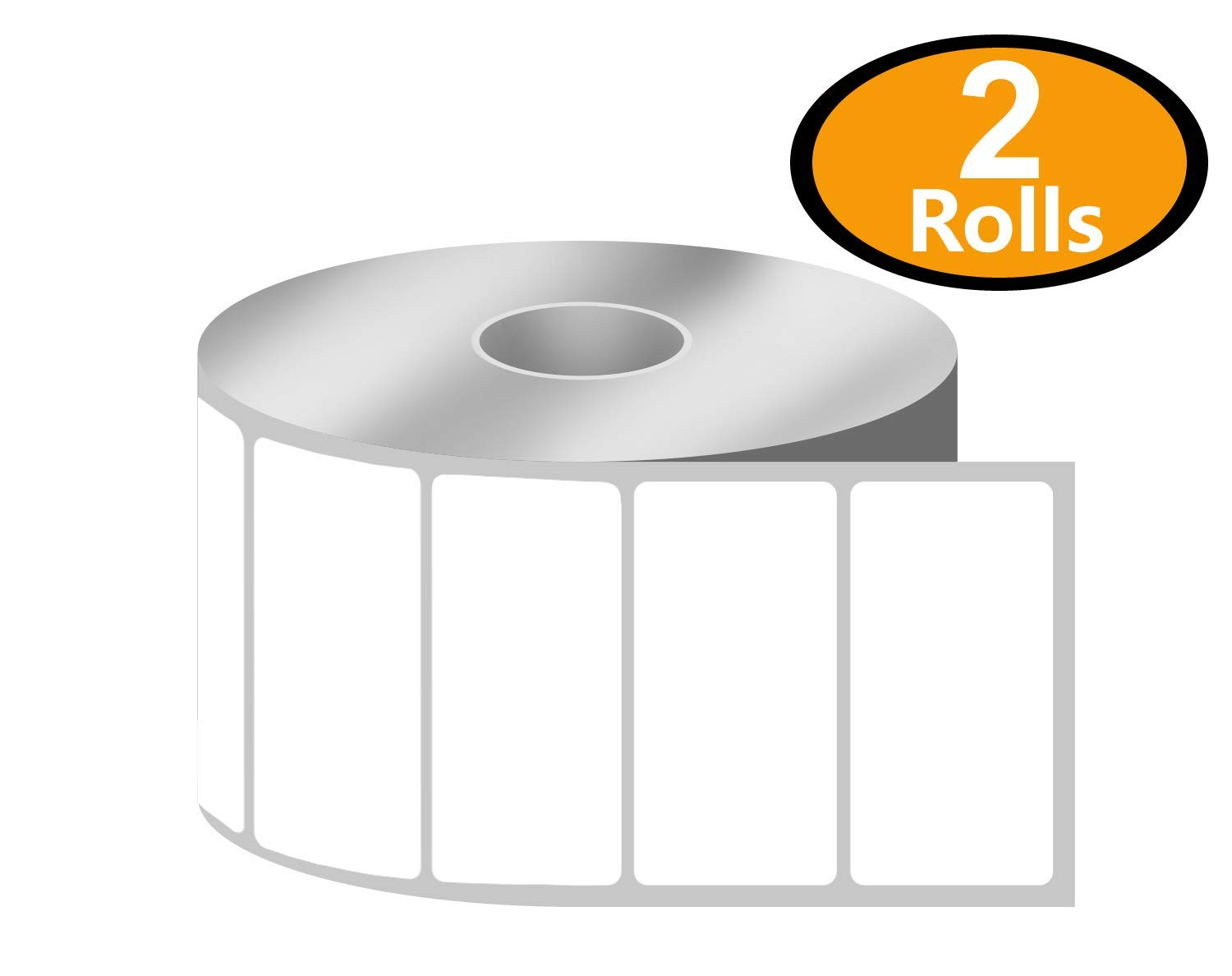 [1 Rolls, 1300/Roll] 2' x 1' Direct Thermal Zebra/Eltron Compatible Labels - Premium Resolution & Adhesive 1300/Roll] 2 x 1 Direct Thermal Zebra/Eltron Compatible Labels - Premium Resolution & Adhesive BETCKEY