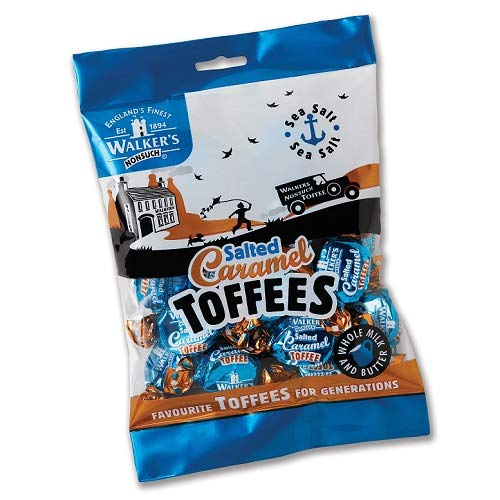 Walkers Salted Caramel Toffee 150g (Pack of 3) (Candy Caramel Salted)