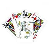 Map City Italy Landmark National Flag Pattern Poker Playing Cards Tabletop Game Gift