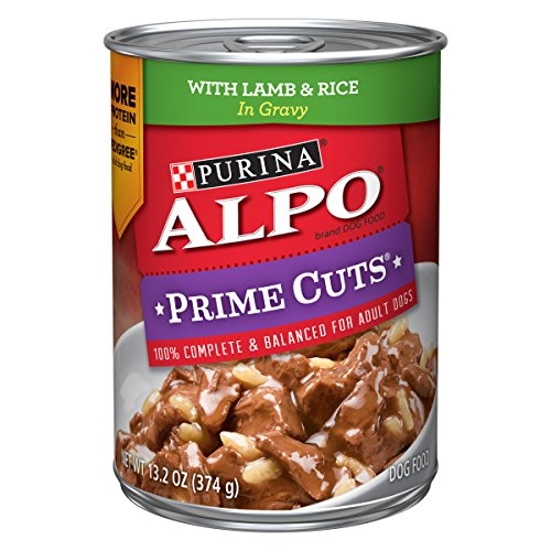 Purina ALPO Gravy Wet Dog Food; Prime Cuts With Lamb & Rice in Gravy - 13.2 oz. Can, pack of 12 (Best Gravy For Lamb)