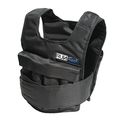 RUNmax 12lb-140lb Weighted Vest (with Shoulder Pads, 40lb)