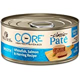 Wellness CORE Natural Grain Free Wet Canned Cat Food, Whitefish, Salmon & Herring, 5.5-Ounce Can , Pack of 24