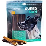 6-inch Prime Thick Odor Free Bully Sticks [ 12 Pack ], by Super CAN Bully Sticks, 100% Natural Dog Treats. Free Premium Cattle Beef. Healthy Nutritious & Delicious. Favorite Rawhide Alternative