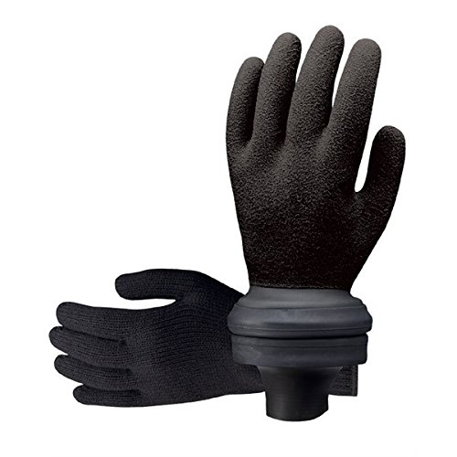 (ScubaPro Easy-Don Waterproof Scuba Diving Gloves (Black, X-Large))