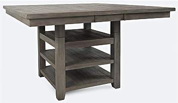 Amazon.com - Jofran High Low Square Storage Dining Table ...