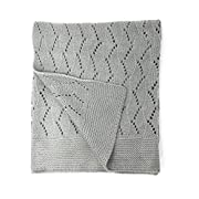 effe bebe Ravelry Knitted Baby Blanket 30 x40  (Classic Grey)