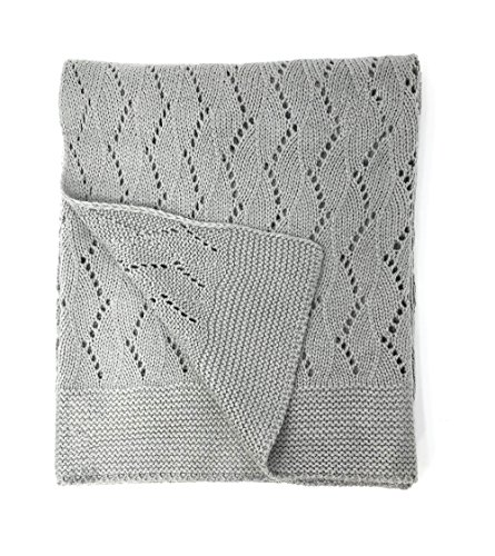 Effe Bebe Ravelry Knitted Baby Blanket 30 X40   Classic Grey