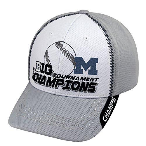 Top of the World Michigan Wolverines 2015 Big 10 Baseball Tournament Champs Locker Room Hat Cap