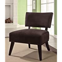Accent Chair with Oversized Seating in Brown Fabric