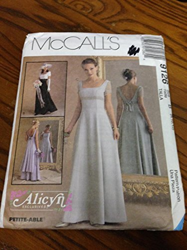 McCall's 9126 Sewing Pattern, Misses' Bridal Dress/Wedding Gown & Bridesmaid Dress, Size B (8,10,12) by (Mccalls Bridesmaid Patterns)