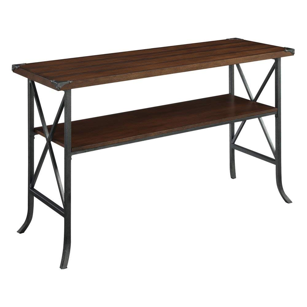 Convenience Concepts Brookline Console Table, Dark Walnut
