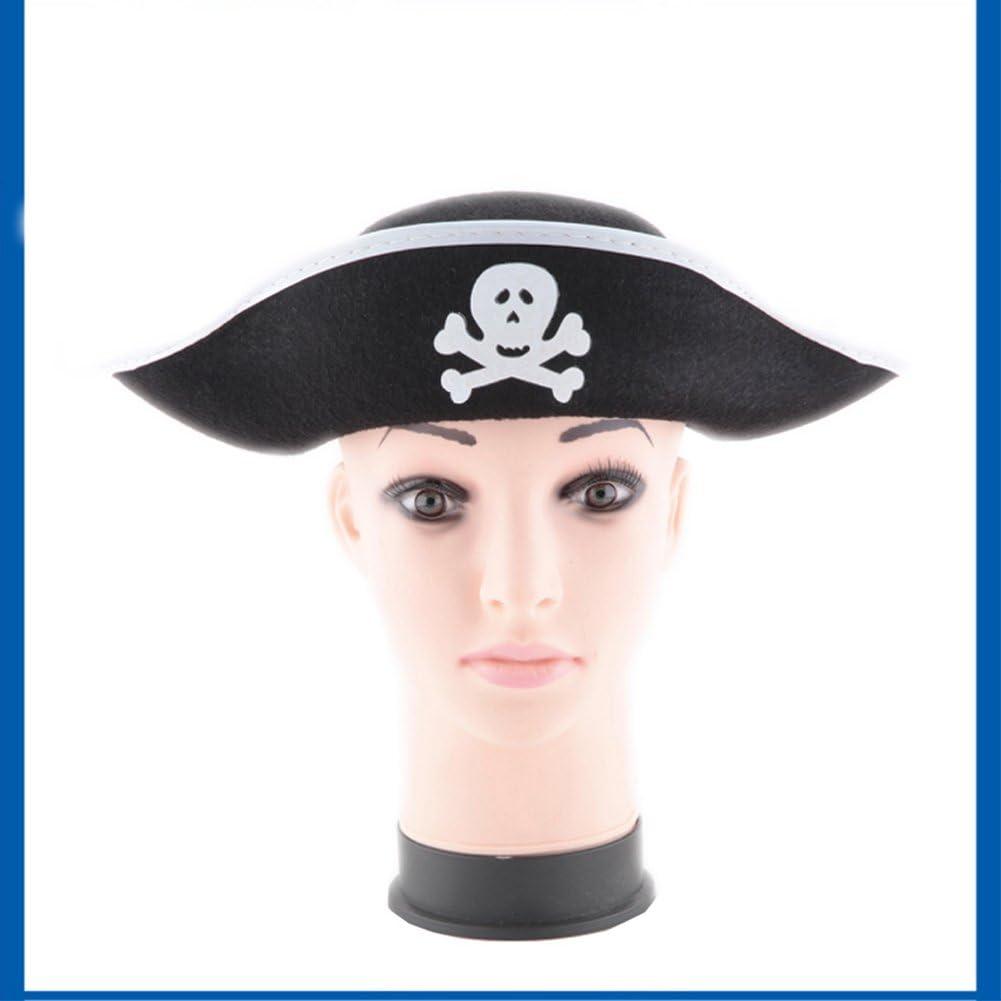 Ocamo Sombrero de capitán Pirata con Estampado de Calavera, Fiesta ...