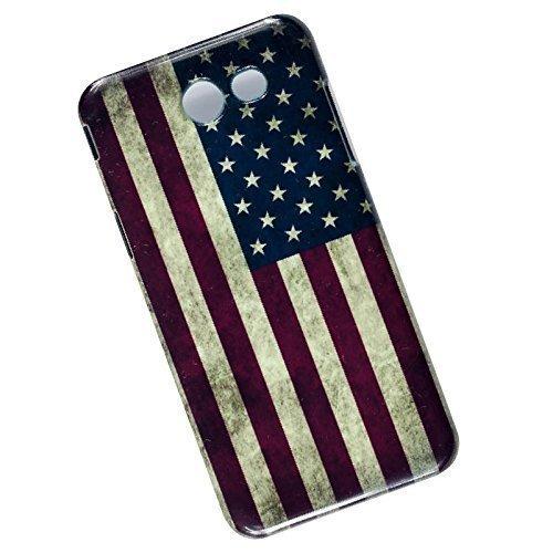Slim Case for Samsung Galaxy J3 (2017) J327, Emerge, Eclipse, Prime. USA Flag.