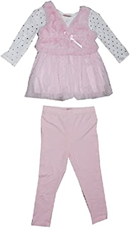 Nannette Little Girls 2 Piece Wave Floral Shirt and Pant