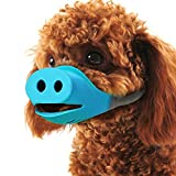 Beirui Anti Bite Dog Mask Muzzles - Breathable Head Collars Pig Mouth ShapeMuzzles Masks- Silicone Dog Mouth Cover Small Dog for Chihuahua,Border Collie,Shih tzu Puppy,Akita